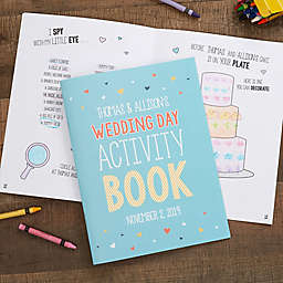 Wedding Day Personalized Coloring Activity Book
