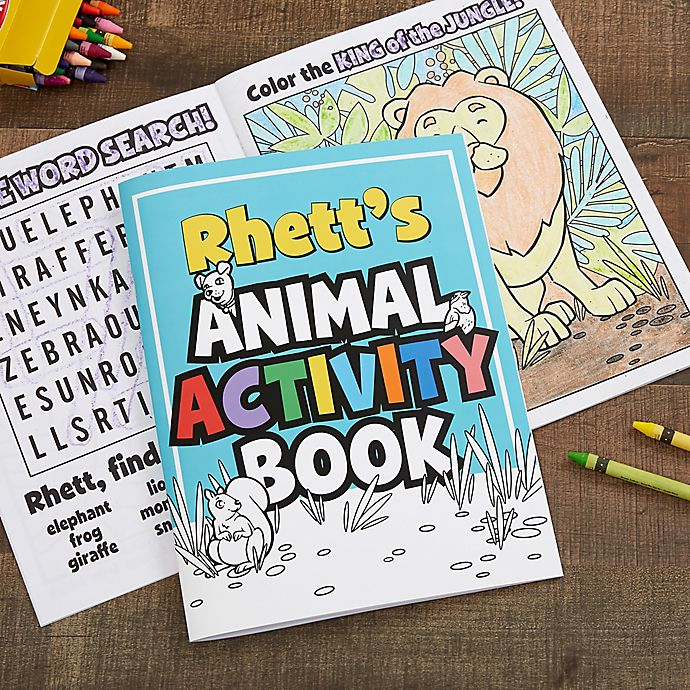 Alternate image 1 for Amazing Animals Personalized Coloring Activity Book