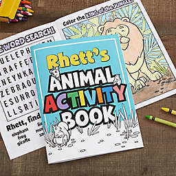 Amazing Animals Personalized Coloring Activity Book