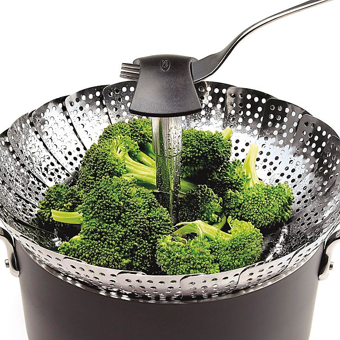 Alternate image 1 for OXO Good Grips® Stainless Steel Steamer with Extendable Handle