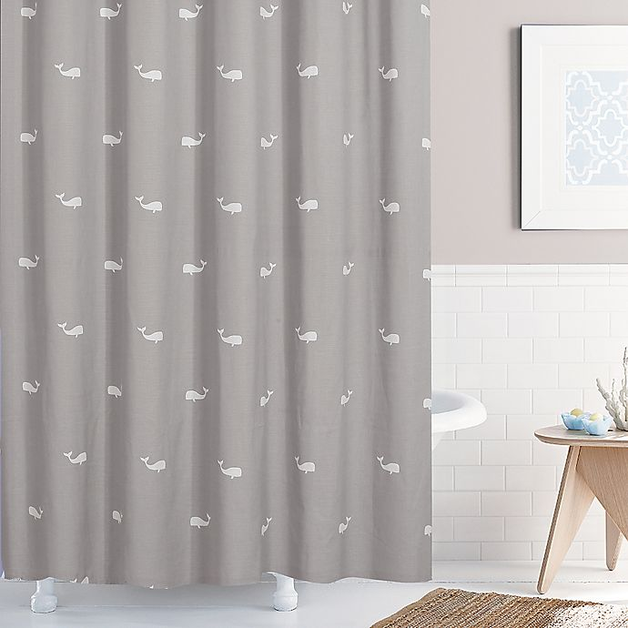 Alternate image 1 for Moby 72-Inch x 84-Inch Shower Curtain in Grey