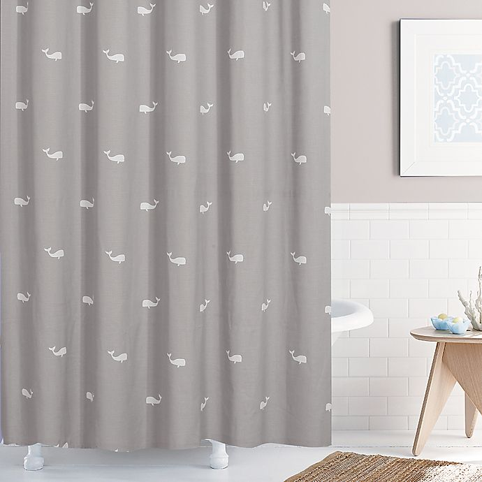 Alternate image 1 for Moby 72-Inch x 96-Inch Shower Curtain in Grey