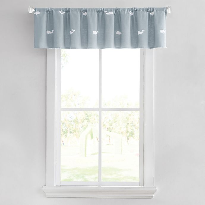 Alternate image 1 for Moby Whale Window Valance in Spa Blue