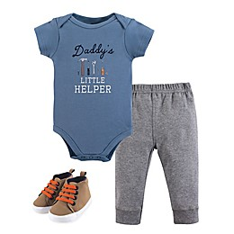 Little Treasures 3-Piece Daddy's Helper Bodysuit, Pants & Shoes Set