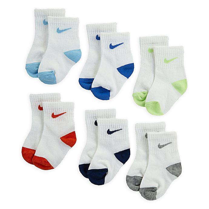 Alternate image 1 for Nike® Pop Color Size 3-4T 6-Pack Sock Set