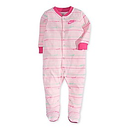 Nike® Script Footed Coverall in Pink