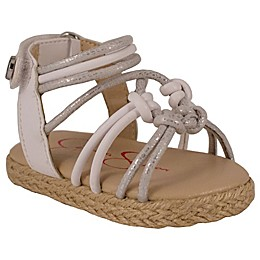 Jessica Simpson Raye Braided Sandal in Silver/White