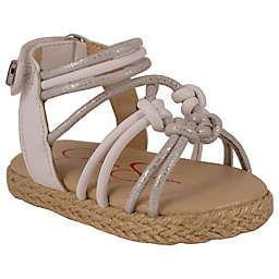 Jessica Simpson Raye Braided Sandal in Silver/White