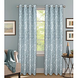 Bastille Lattice Grommet 100% Blackout Window Curtain Panel