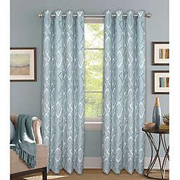 Bastille Lattice Grommet 100% Blackout Window Curtain Panel