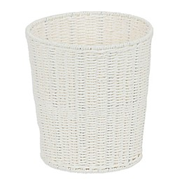 Household Essentials® Rope Wicker Waste Bin in White