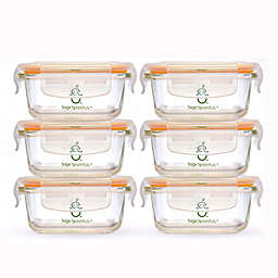 Sage Spoonfuls® Tough Glass 4 oz. Baby Food Storage Tubs in Clear (Set of 6)