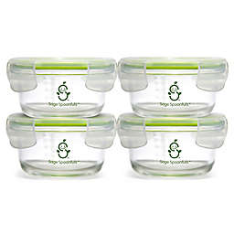 Sage Spoonfuls® Tough Glass 7 oz. Baby Food Storage Tubs in Clear (Set of 4)