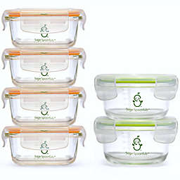 Sage Spoonfuls® 6-Pack Tough Glass Baby Food Storage Tubs in Clear
