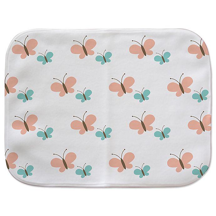 Alternate image 1 for Vapor Microfiber Fleece Butterfly Burp Cloth