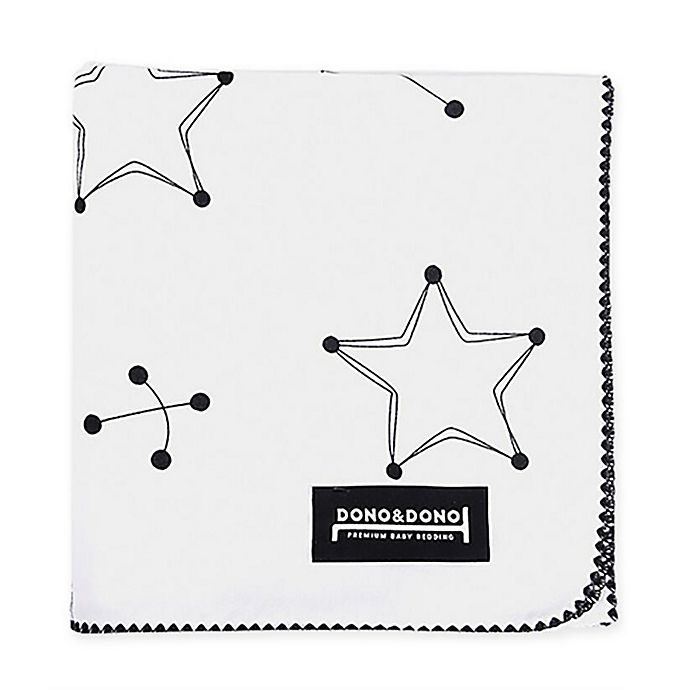 Alternate image 1 for Dono&Dono Jupiter Cotton Cuddle Blanket in Black/White