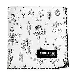Dono&Dono Holly Garden Cotton Cuddle Blanket in Black/White