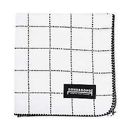 Dono&Dono Mono Bean Cotton Cuddle Blanket in Black/White