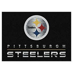 NFL Pittsburgh Steelers Chrome-Effect Area Rug in Black