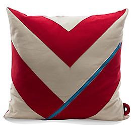 Mimish Dreamer Pocket Throw Pillow in Vanilla Bean/Chili Pepper