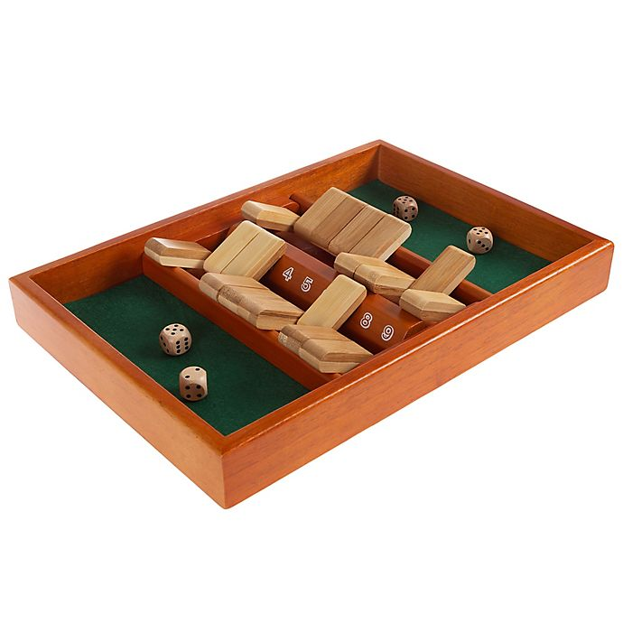 Alternate image 1 for Hey! Play! 9-Piece Wooden Shut the Box Game