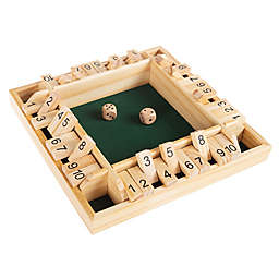 Hey! Play! 10-Piece Wooden Shut the Box Game