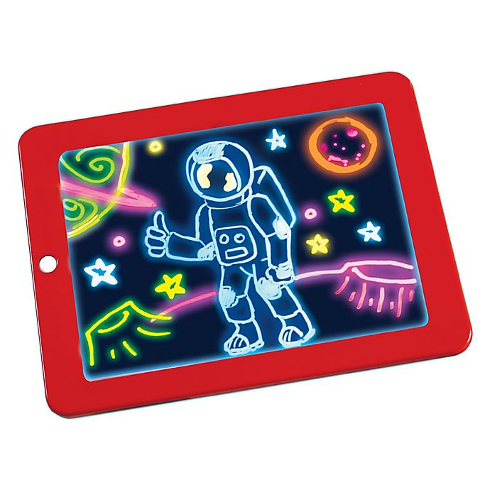 Alternate image 1 for Magic Pad Light Up Drawing Pad in Red