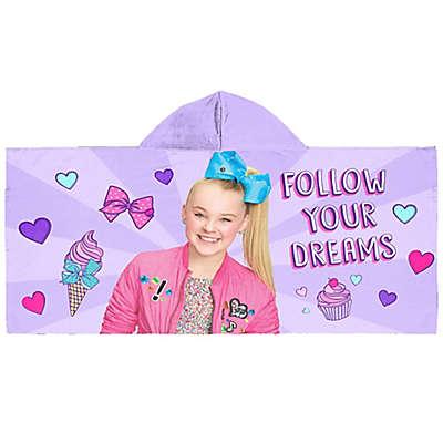 """JoJo Siwa™ """"Follow Your Dreams"""" Hooded Beach Towel in Purple"""