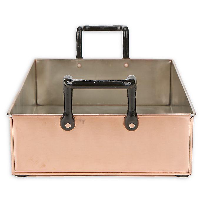 Alternate image 1 for Mind Reader Rectangular Copper Serving Tray