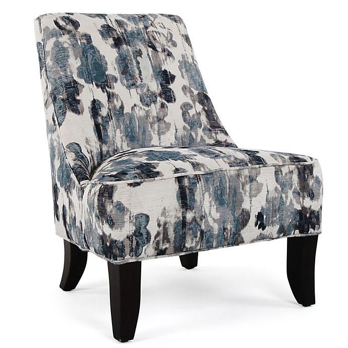 Alternate image 1 for Mirabelle Polyester Upholstered Chair in Blue