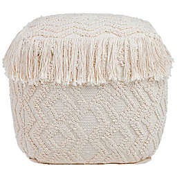 TOV Furniture Upholstered Inca Pouf Ottoman in Natural