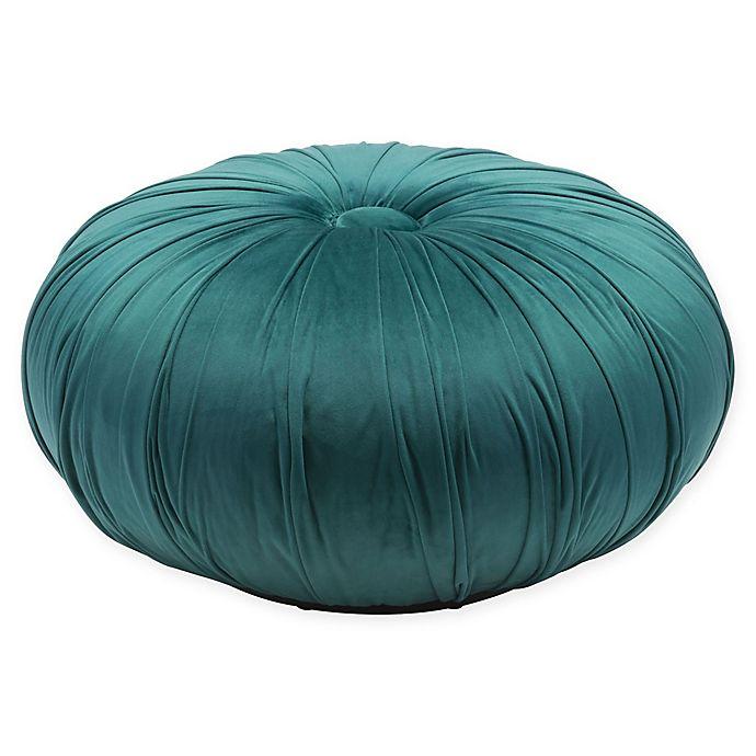 Alternate image 1 for Zuo® Bund Velvet Ottoman in Green