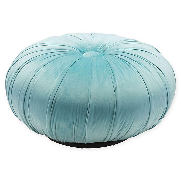 Alternate image 1 for Zuo® Bund Velvet Ottoman in Light Blue