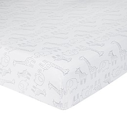 Just Born® Big Dreamer Fitted Crib Sheet in White