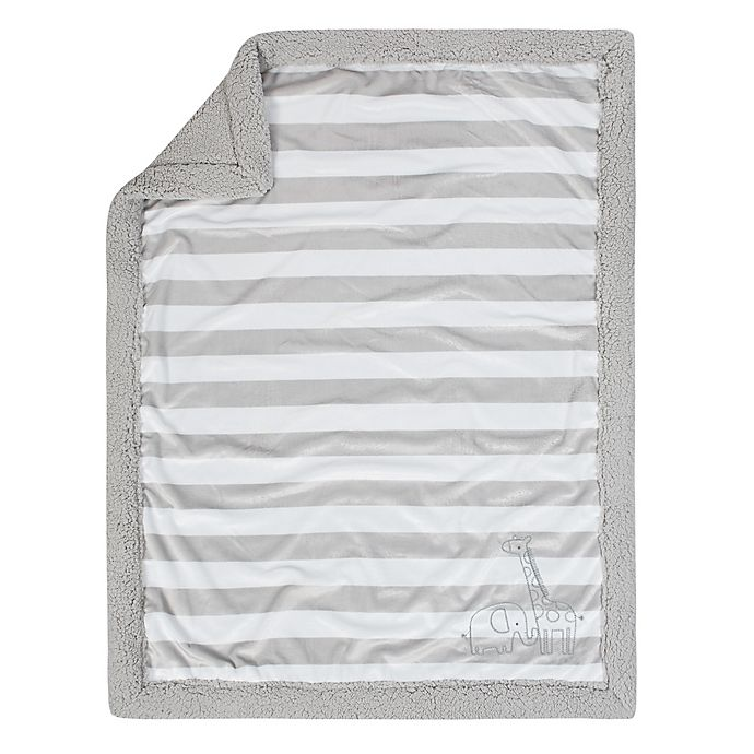 Alternate image 1 for Just Born® Big Dreamer Stroller Blanket in Grey