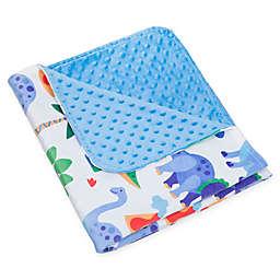Wildkin Dinosaur Plush Blanket in Blue