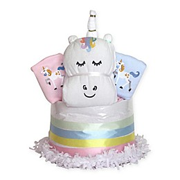 Silly Phillie™ Creations Unique Unicorn Diaper Cake Gift Set for Twins