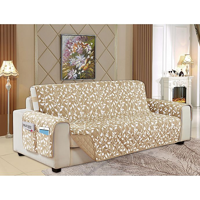 Alternate image 1 for Leaf Reversible Furniture Cover Collection