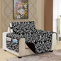 Leaf Reversible Chair Cover in Black
