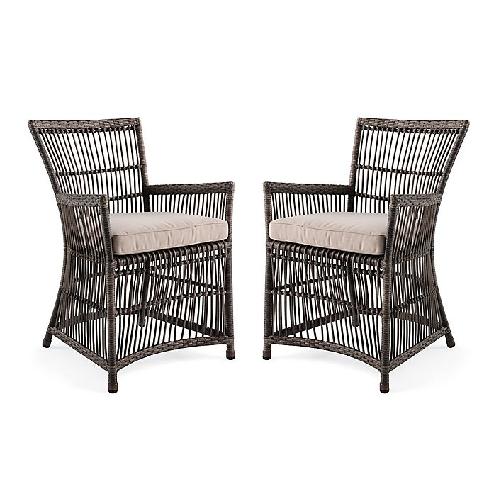 Bee Amp Willow Home Outdoor Dining Chairs In Grey Set Of 2
