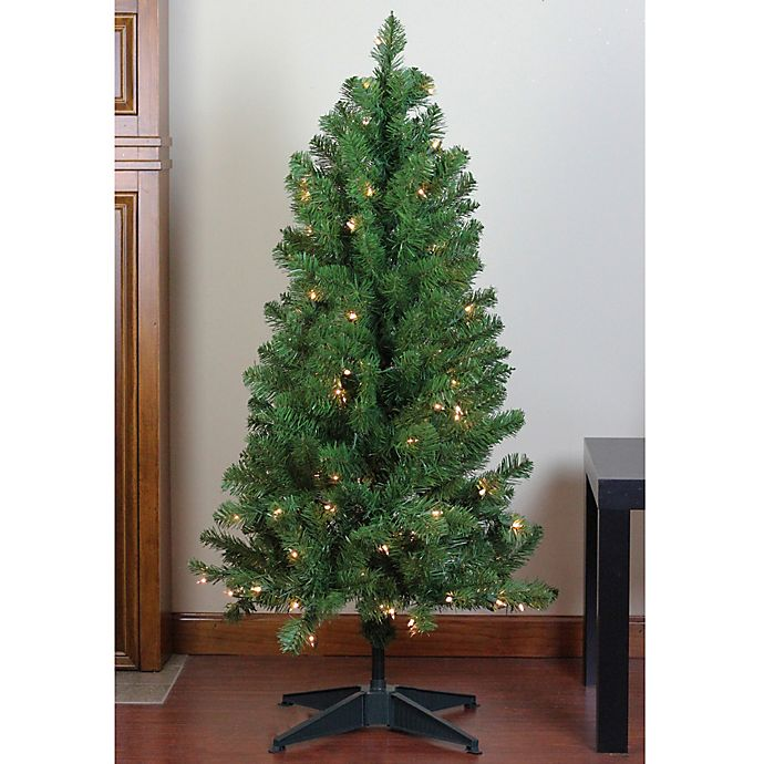 Alternate image 1 for Northlight 4-Foot Noble Pine Pre-Lit Artificial Christmas Tree with Clear Lights