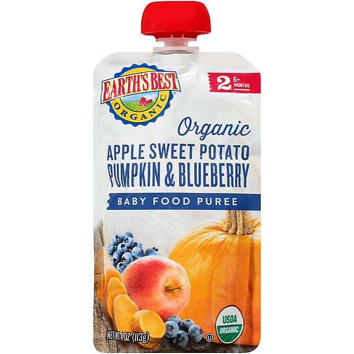 Alternate image 1 for Earth's Best® 4 oz. Organic Stage 2 Apple Sweet Potato Pumpkin Blueberry Baby Food