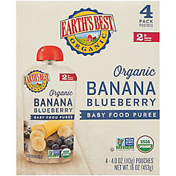 Earth's Best® 4-Pack Banana Blueberry Baby Food Puree Pouch