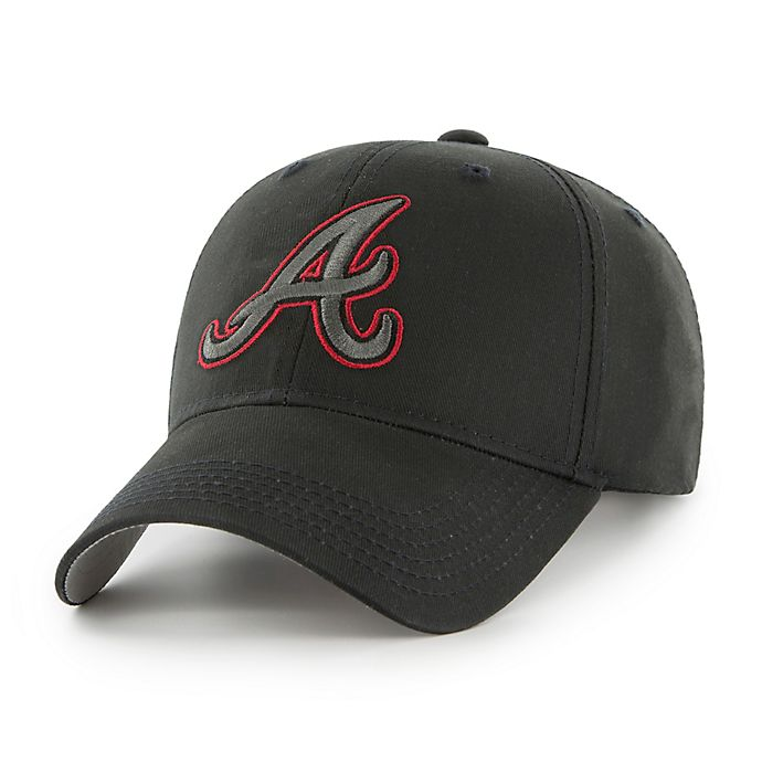 Alternate image 1 for MLB Atlanta Barves Basic Adjustable Black Cap