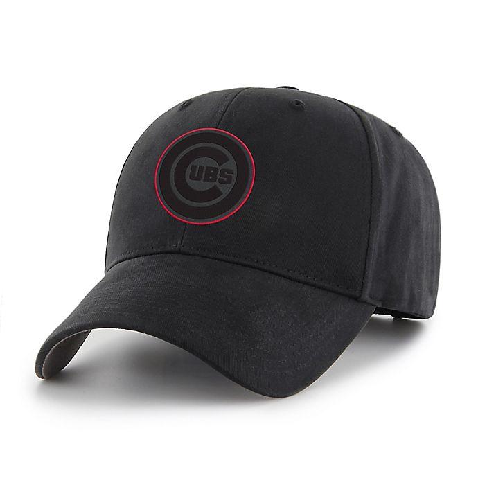 Alternate image 1 for MLB Chicago Cubs Basic Adjustable Black Cap