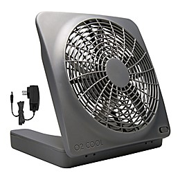 O2COOL® 10-Inch Portable Camping Fan in Grey