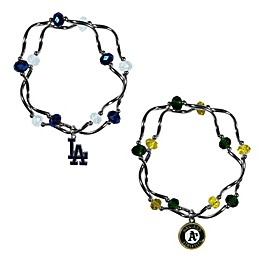 MLB Double Strand Stretch Bead Bracelet Collection