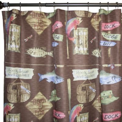 Born To Fish 70 Inch X 72 Fabric Shower Curtain
