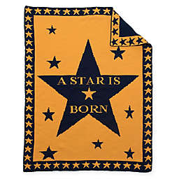 "BK KNITS ""A Star is Born"" Baby Blanket"