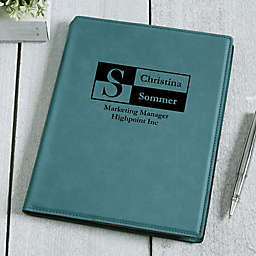 Sophisticated Style Personalized Junior Padfolio